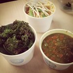 Lunchtime at Moo! Soup, curry and salad!