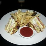 club sandwich made with French toast!