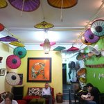 lao umbrellas inside
