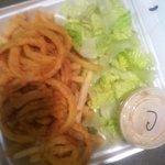 good rings but naked salad....
