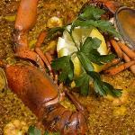 Paella de bogavante / Paella with lobster