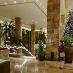 Hotellets lobby i december