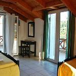 Studio interior and veranda.