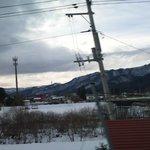 湯西川を超えたら一面雪