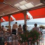 breakfast on the terrace overlooking the lake