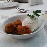 2. fried Olives was a good choice with fresh cheese.