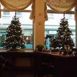 Christmas in the reception area