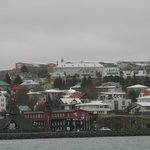 View at Hafnarfjördur from harbour walkway
