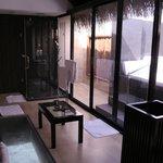 Salle de bain de la chambre piloti