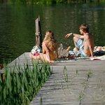 Picknick auf dem Badesteg