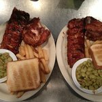 Ribs and Chicken--Yum!