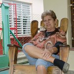 Manuela auf der Terrasse, Villa El Coral