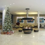Christmassy lobby