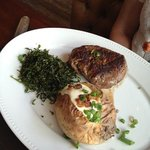 prato de meio mignon com batata assada