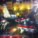 und noch ein Blick vom Tower auf den Weihnachtsmarkt