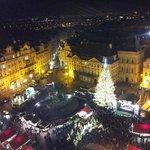 Aussicht vom Turm auf den Weihnachtsmarkt