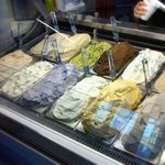 A dozen gelati available, made fresh daily.