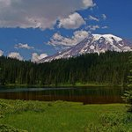 View of Mount Rainier from Reflection Lake