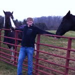 Me with two of the horses that live on site