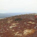 Chopper on top of Mt Tarawera