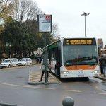 El bus Nº 5 desde Piazzale Roma