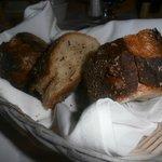 The rustic bread