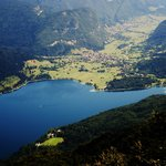 View from ski resort above Lake Bohinj.