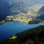 View from ski resort above Lake Bohinj.