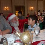 Zayden giving the List to Santa