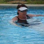 In the pool at swimuproom