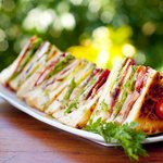 The popular Bayaroma Club Sandwich...