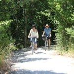 Riding the limestone trail