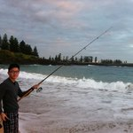 Fishing in front of our beach unit