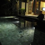 Lights in the Pool at night