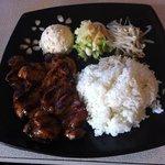 BBQ chicken lunch plate yum