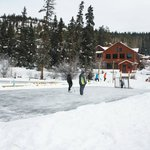 Icerink on frosen lake