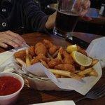 Tasty munchie shrimp basket
