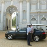 Airport transport-Jaguar and palace gates
