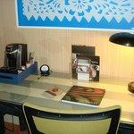 Desk area, Free wi-fi, Stocked coffee maker