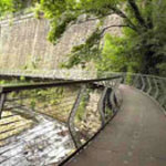 Millenium Walkway 5 minutes from New Mills Town centres cafes and pubs