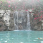 One of the waterfalls at the Oasis swimming pool
