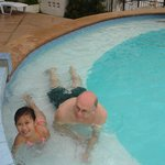 swimming with my niece daughter