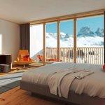 Suite mit Blick auf die Berge