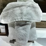 Towel art in the bathroom
