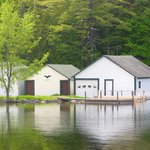 Boat House on Lake