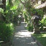 A beautifully landscaped gardens of hotel Ramayana Kuta, Bali