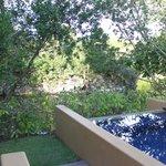 Pool area in courtyard villa