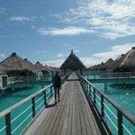 Boardwalk to the villas