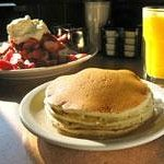 Side of Pancakes - All Omelette & Egg Specialites are served with three buttermilk pancakes