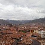 Vista de la ciudad desde la terraza.